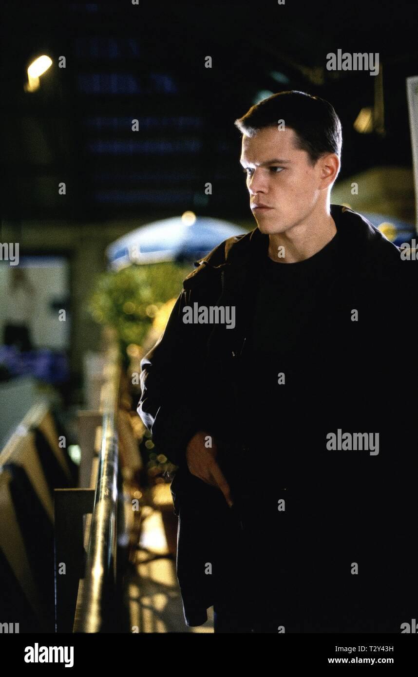 Matt Damon The Bourne Identity 2002 Stock Photo Alamy