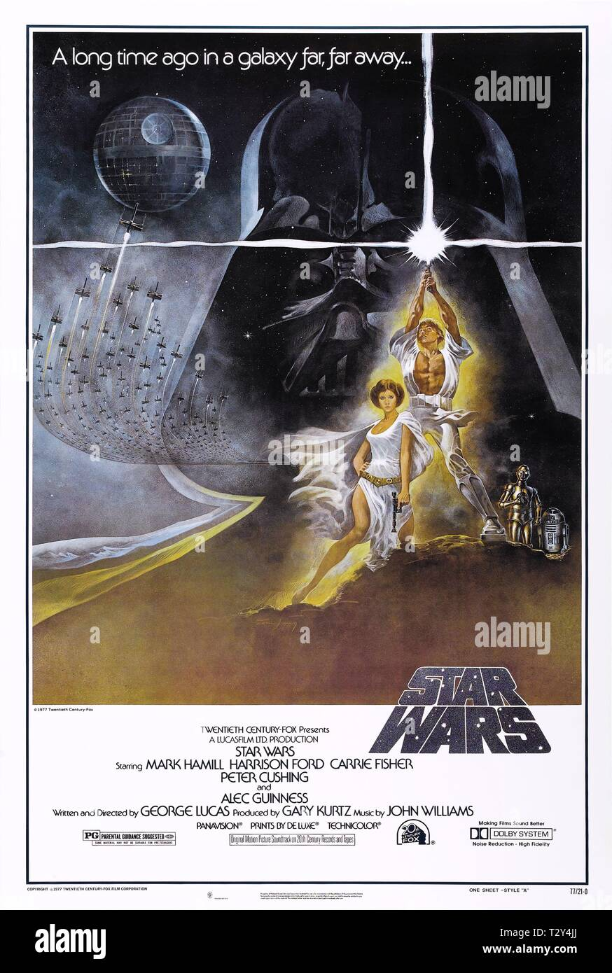 Movie Poster Star Wars Episode Iv A New Hope 1977 Stock Photo Alamy