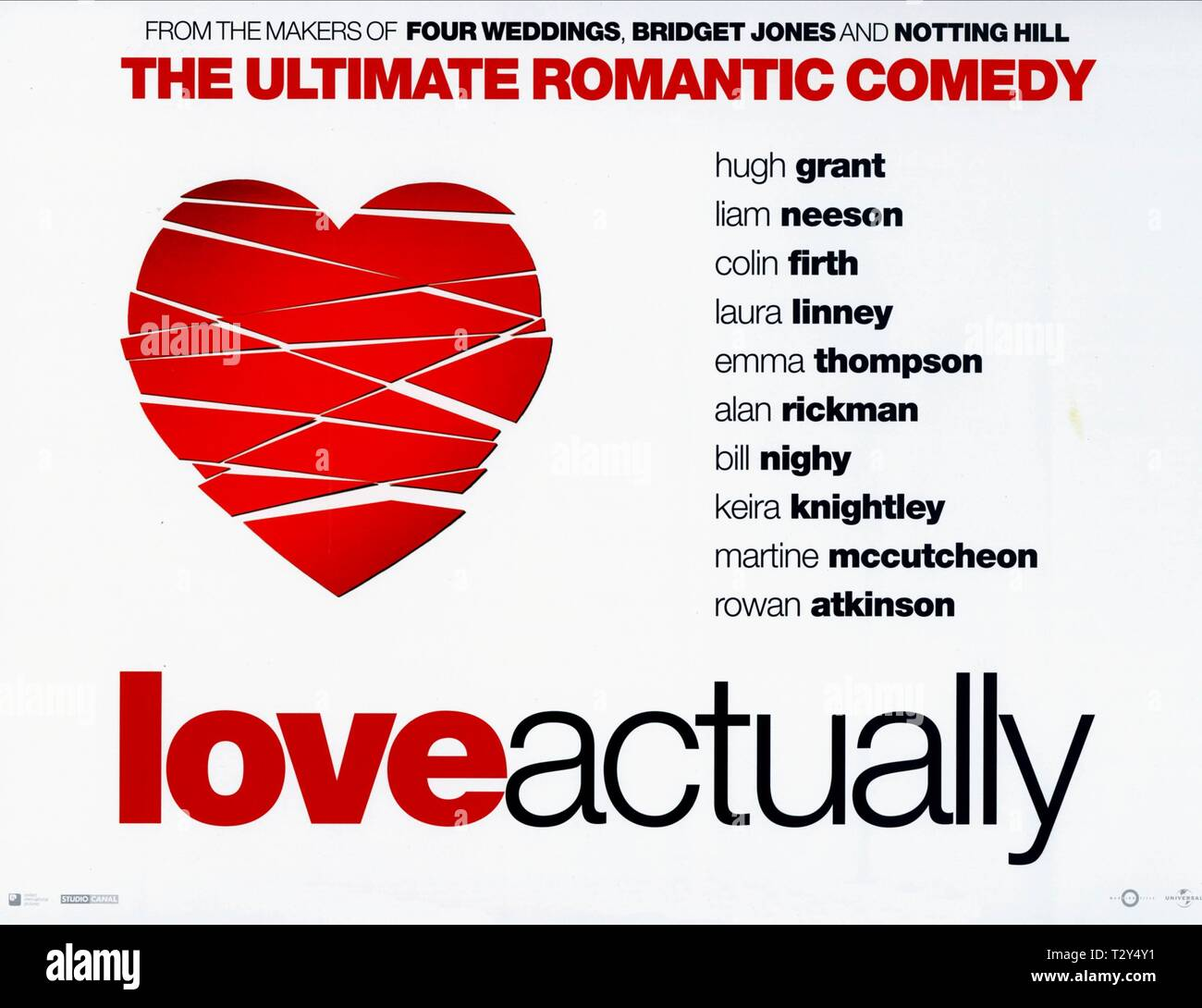 FILM POSTER, LOVE ACTUALLY, 2003 - Stock Image