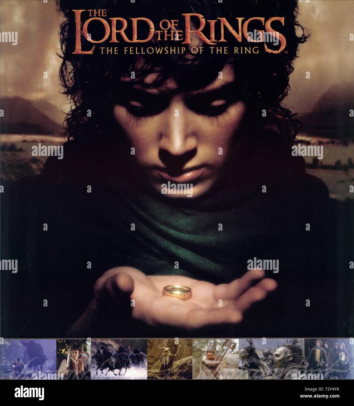 Elijah Wood Poster The Lord Of The Rings The Fellowship Of The Ring 2001 Stock Photo Alamy