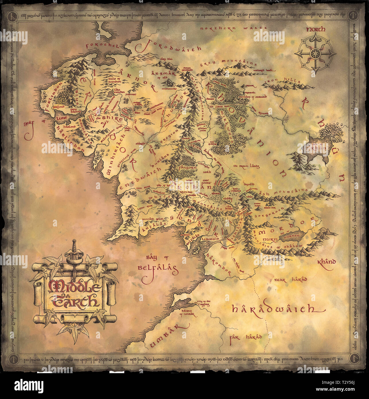 Middle Earth Map Stock Photos & Middle Earth Map Stock ...