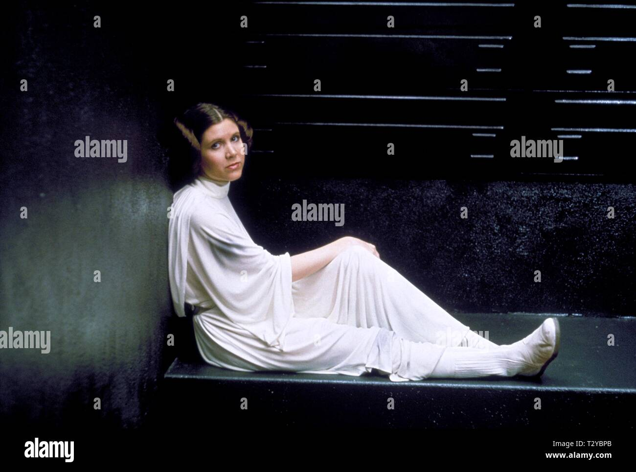 CARRIE FISHER, STAR WARS: EPISODE IV - A NEW HOPE, 1977 - Stock Image