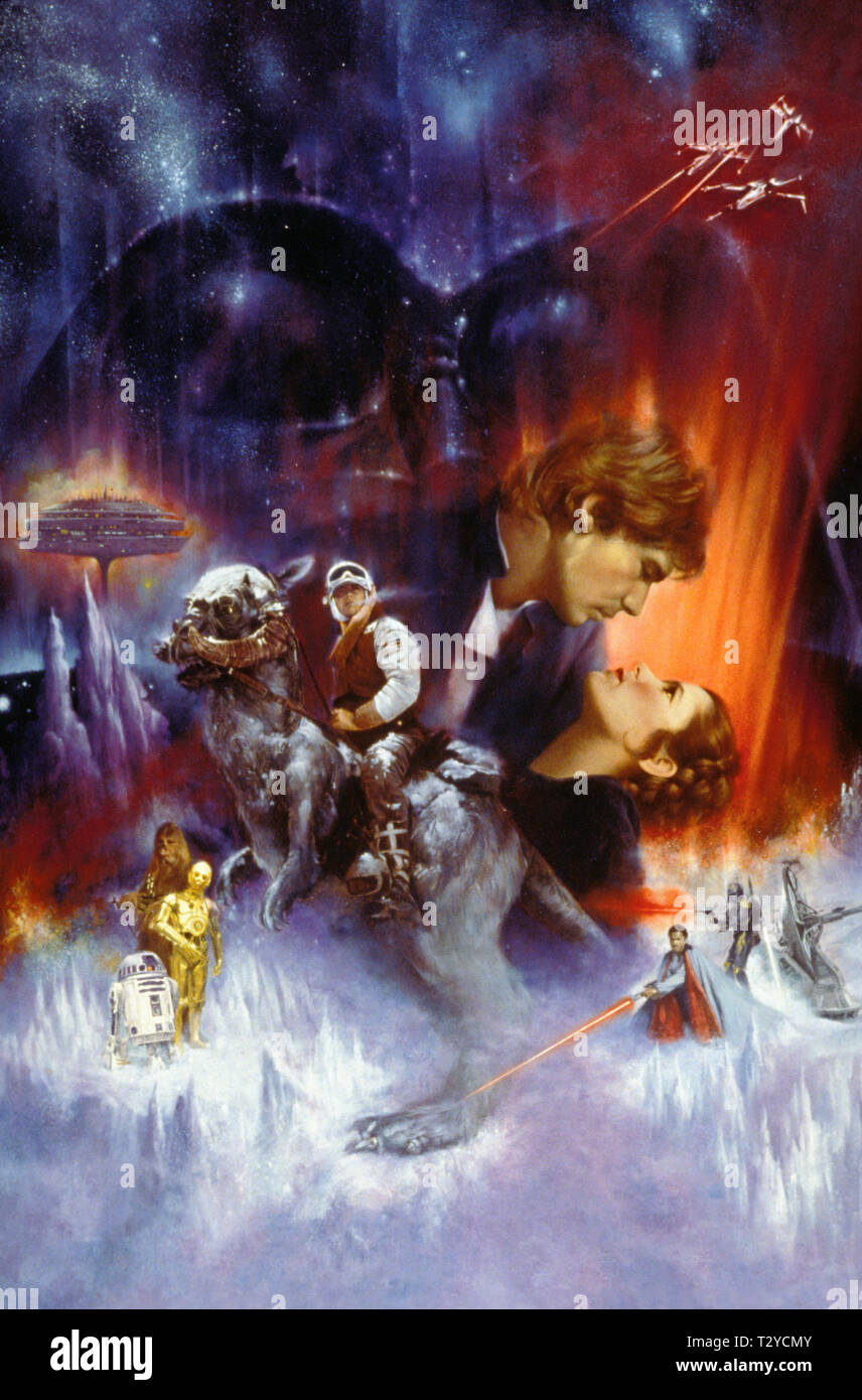 STAR WARS: EPISODE V - THE EMPIRE STRIKES BACK, MARK HAMILL, HARRISON FORD, CARRIE FISHER , BILLY DEE WILLIAMS, 1980 - Stock Image