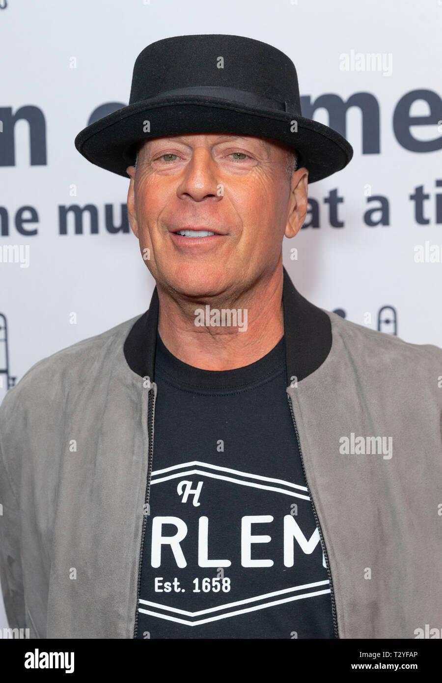 New York, NY - April 4, 2019: Bruce Willis attends Jazz