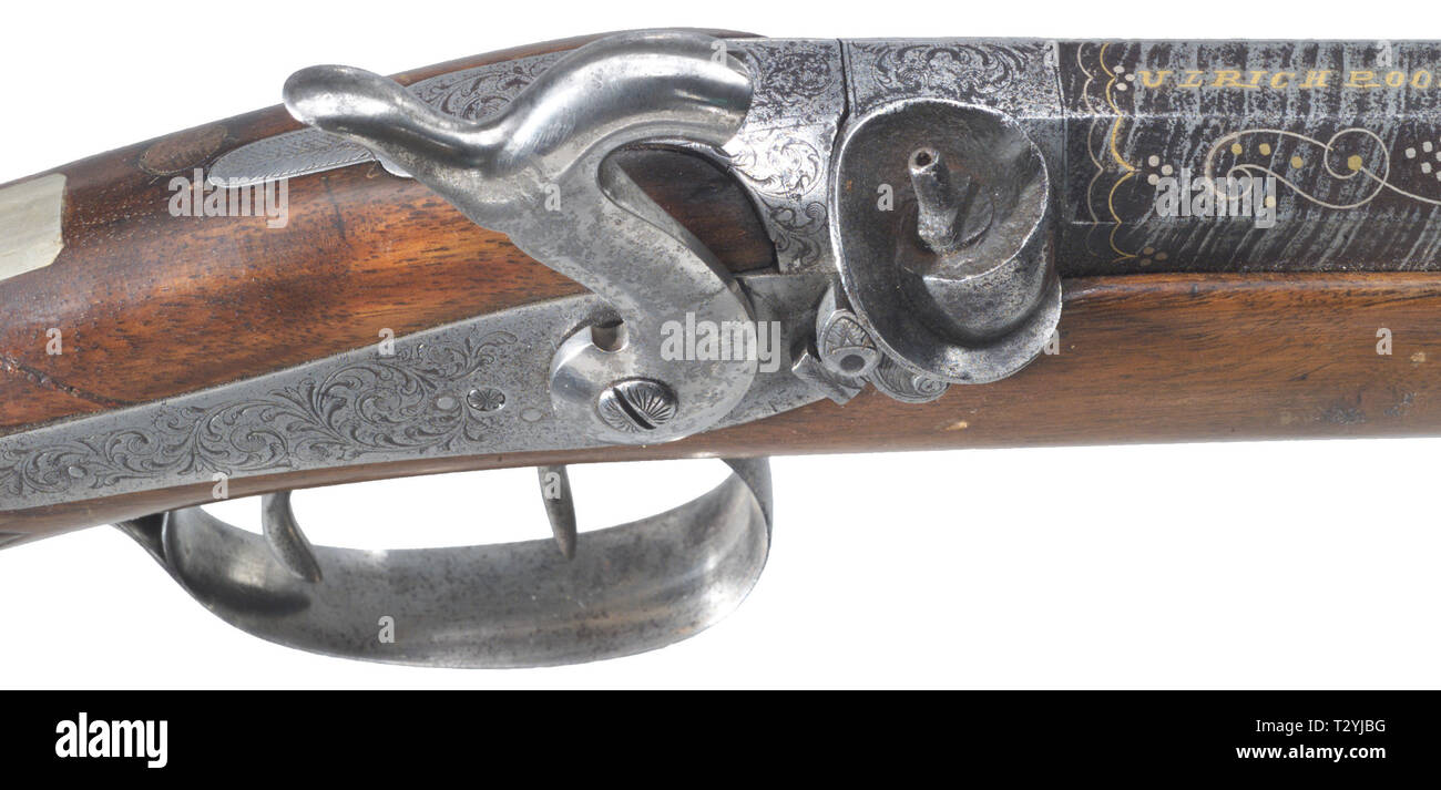 LONG ARMS, caplock rifle, Ulrich Roos and Sohn, Stuttgart, circa 1850, Additional-Rights-Clearance-Info-Not-Available Stock Photo