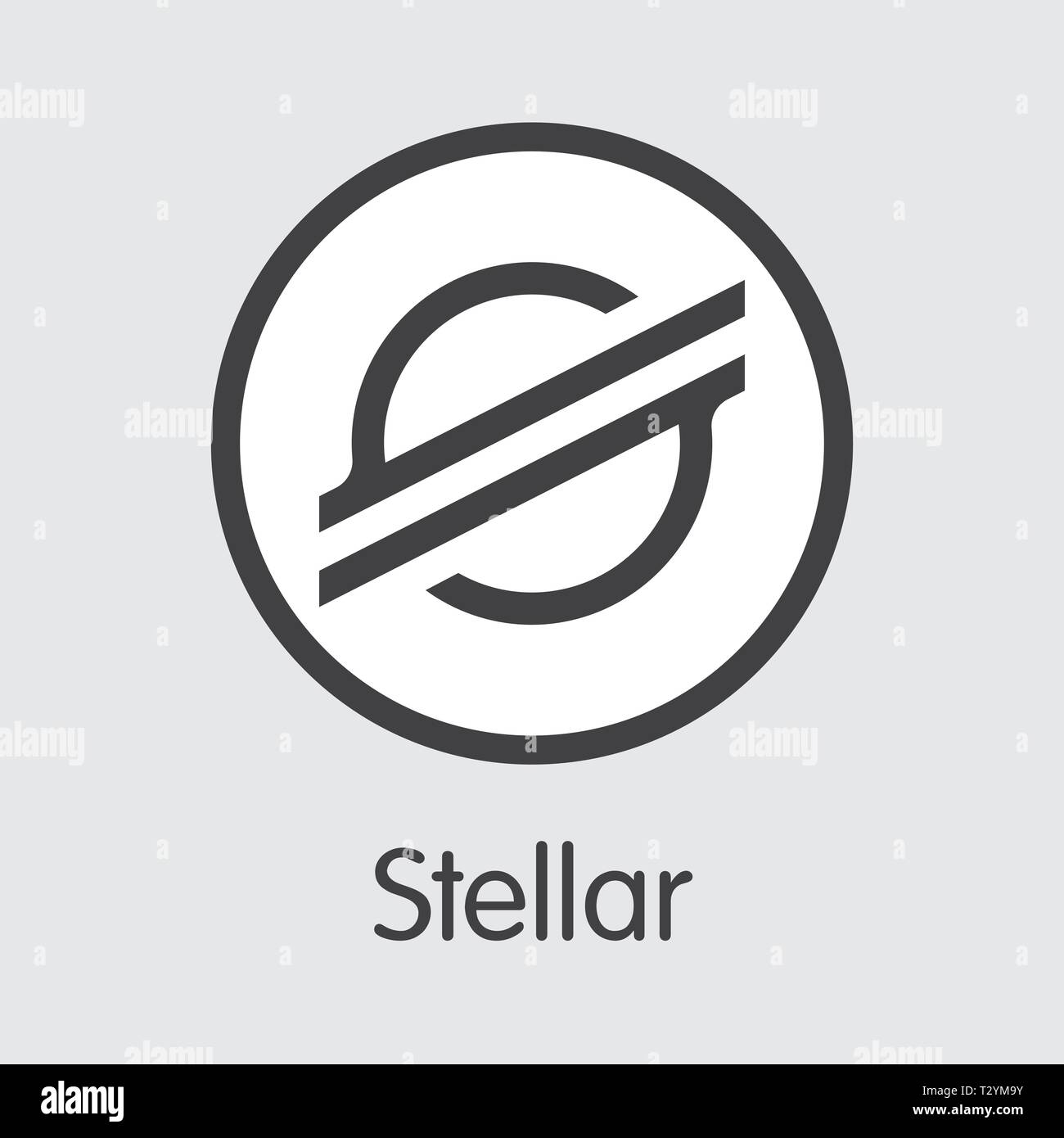 XLM - Stellar. The Logo of Crypto Coins or Market Emblem. - Stock Vector