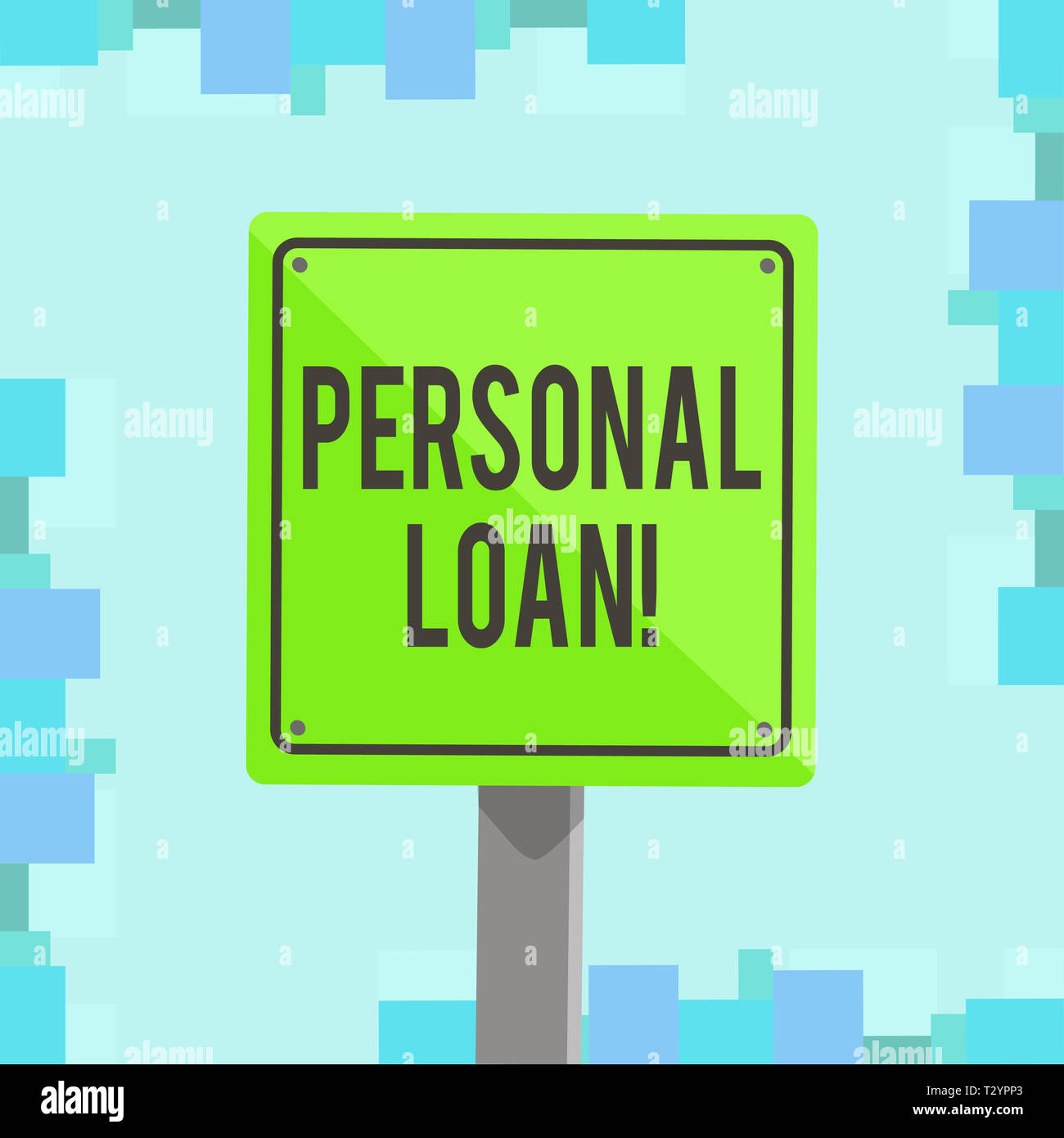 Writing note showing Personal Loan  Business concept for
