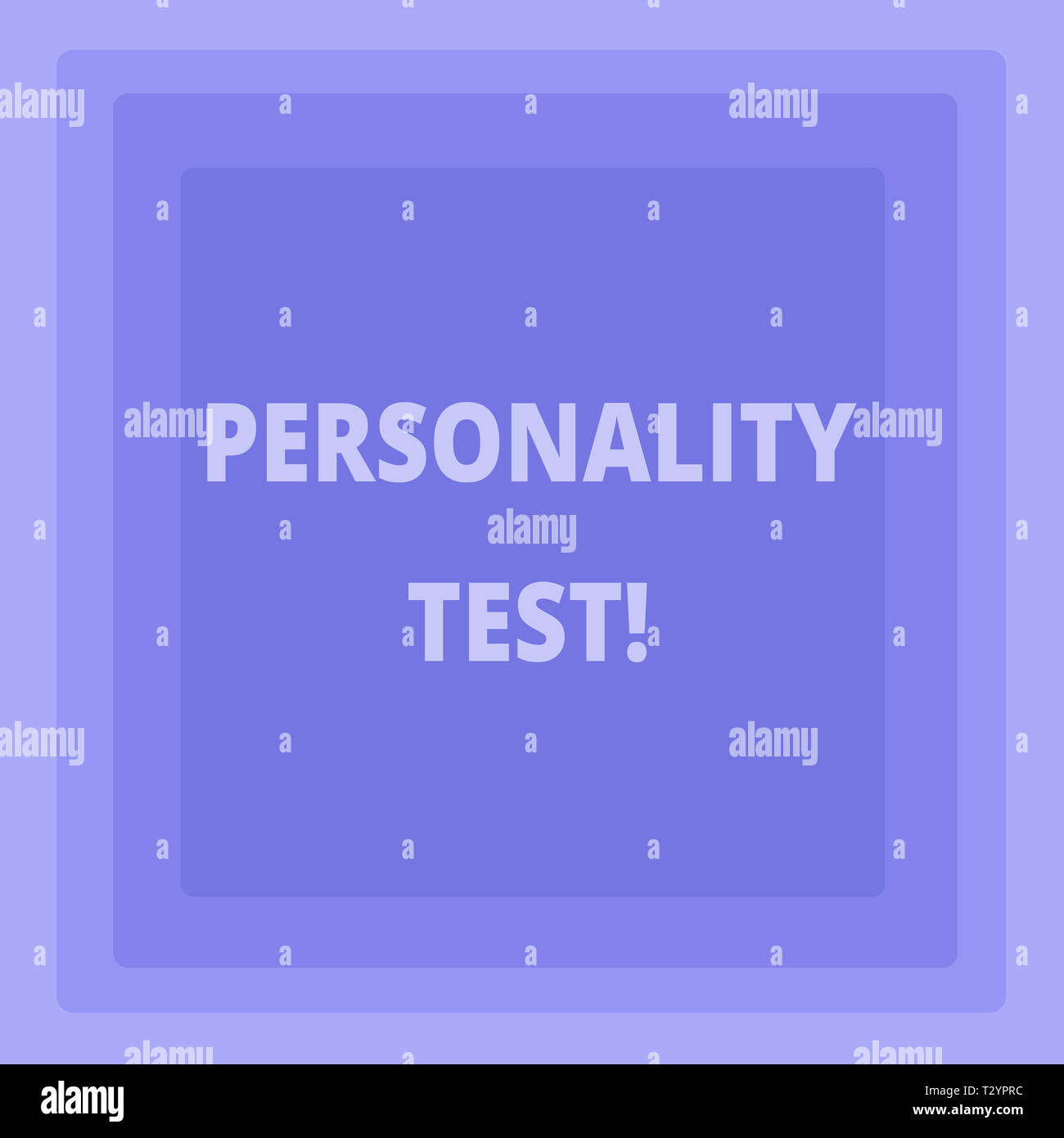 Handwriting text writing Personality Test. Conceptual photo method used assessing huanalysis demonstratingality constructs Pattern of Concentric Squar - Stock Image