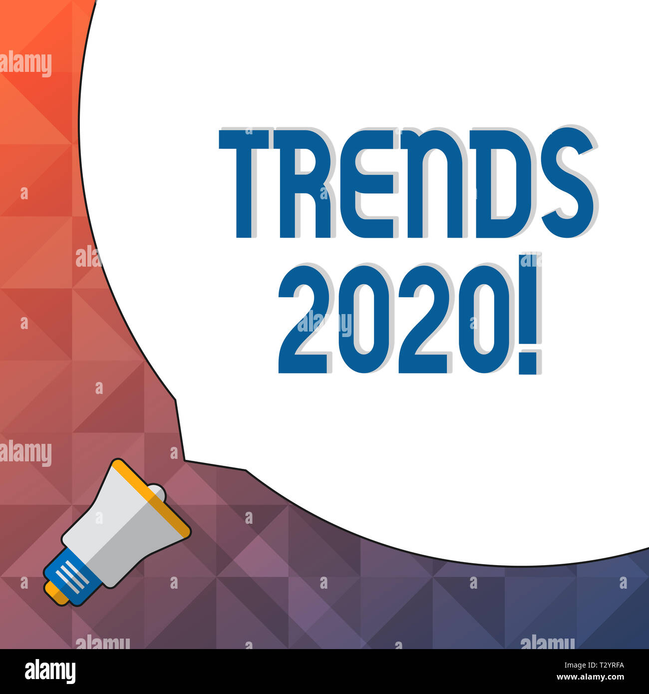Word writing text Trends 2020  Business photo showcasing general