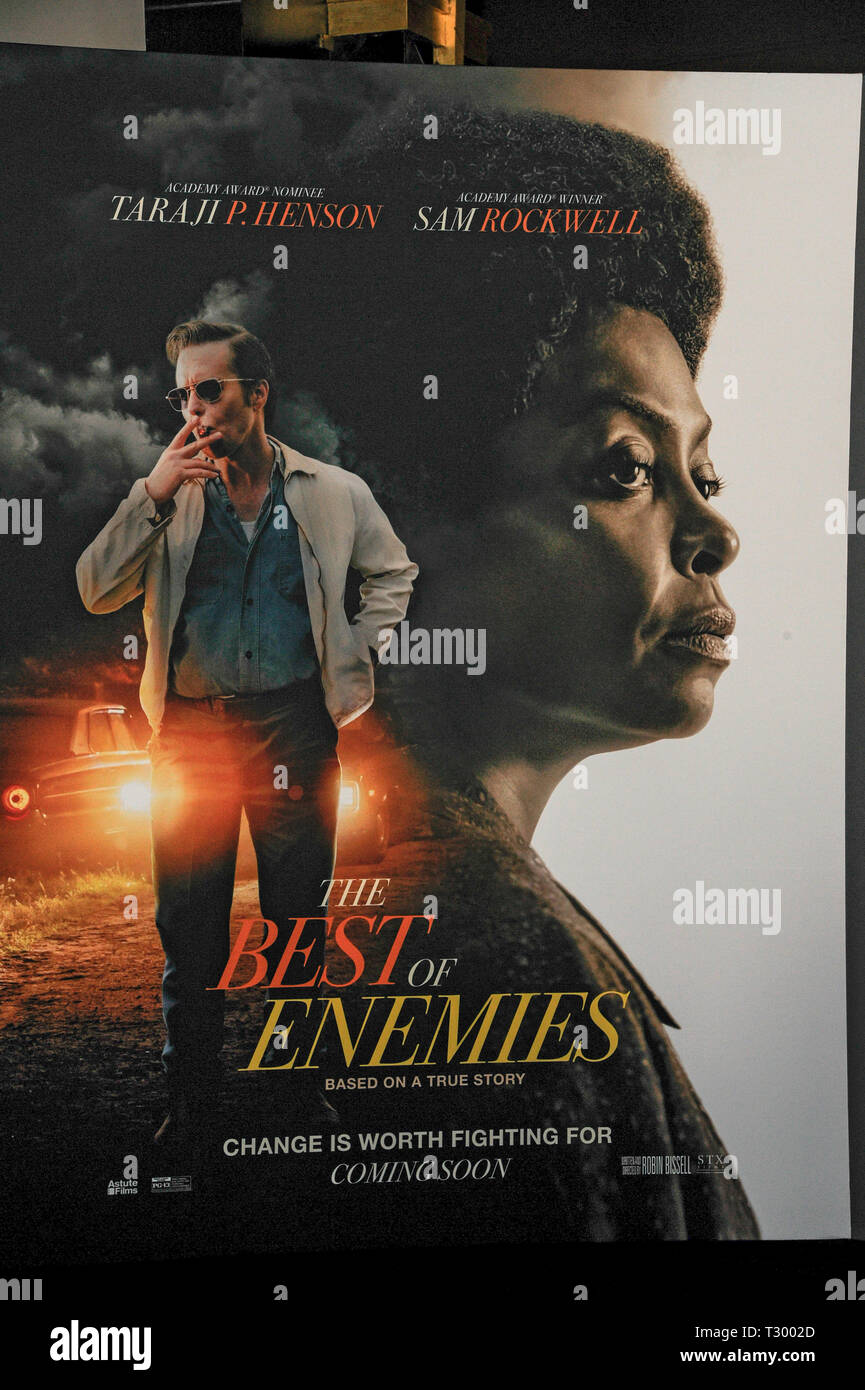NEW YORK, NY - APRIL 04: The Atmosphere at 'The Best Of Enemies' New York Premiere at AMC Loews Lincoln Square on April 04, 2019 in New York City - Stock Image