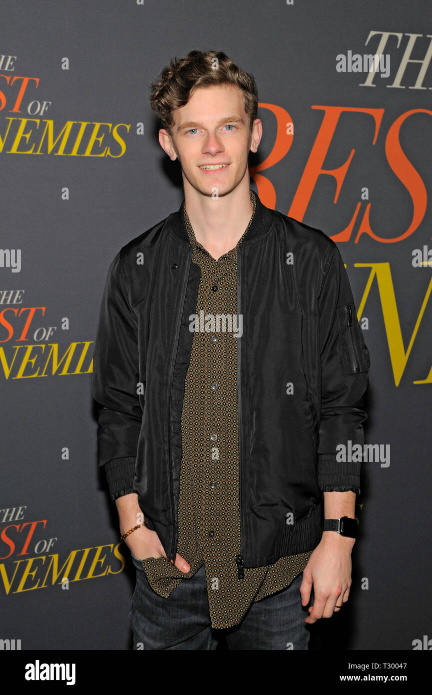NEW YORK, NY - APRIL 04: Kendall Ryan Sanders attends 'The Best Of Enemies' New York Premiere at AMC Loews Lincoln Square on April 04, 2019 in New Yor - Stock Image
