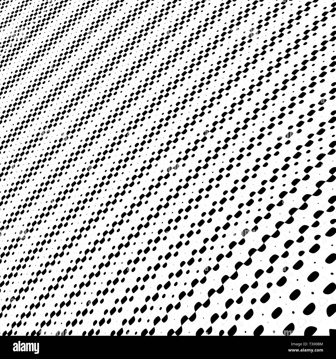 Computer art: Drawing of dots and circles of different size and color forming a perspectivic or symmetric picture - Stock Image
