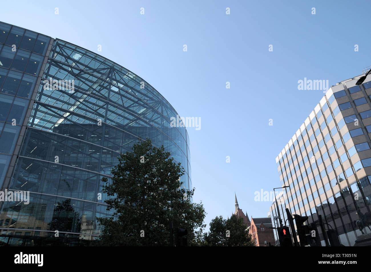 Architecture in Holborn, London.  (Left to right) Sainsbury's HQ, Holborn Bars (formerly Prudential Assurance Building) and Pareto Law offices. - Stock Image