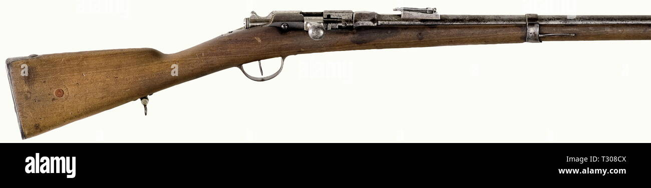 SERVICE WEAPONS, FRANCE, rifle Chassepot-Gras M 1866/74, calibre 11 x 59R, number RT8236, Schloss RT8671, Additional-Rights-Clearance-Info-Not-Available - Stock Image