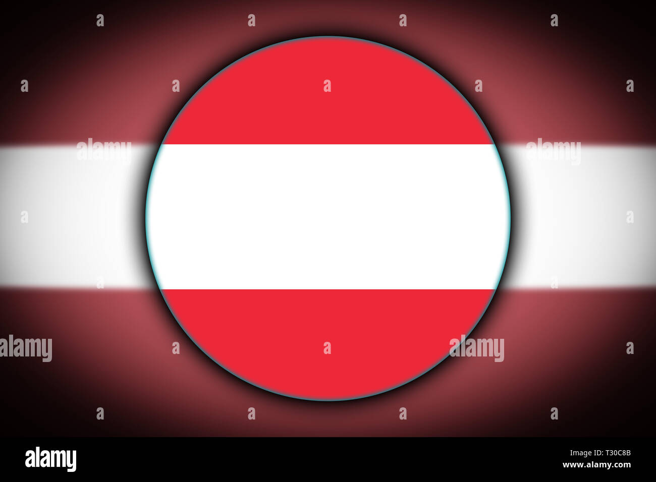 2eccab2d21bc The national flag of Austria in the form of a round button with the  reflection of