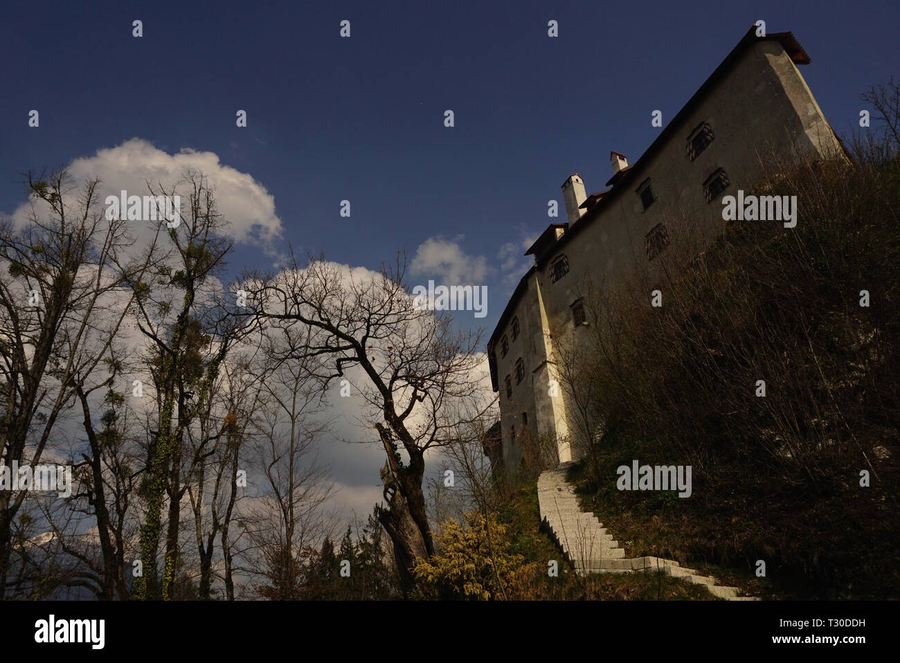 Bled Castle, Slovenia - Stock Image
