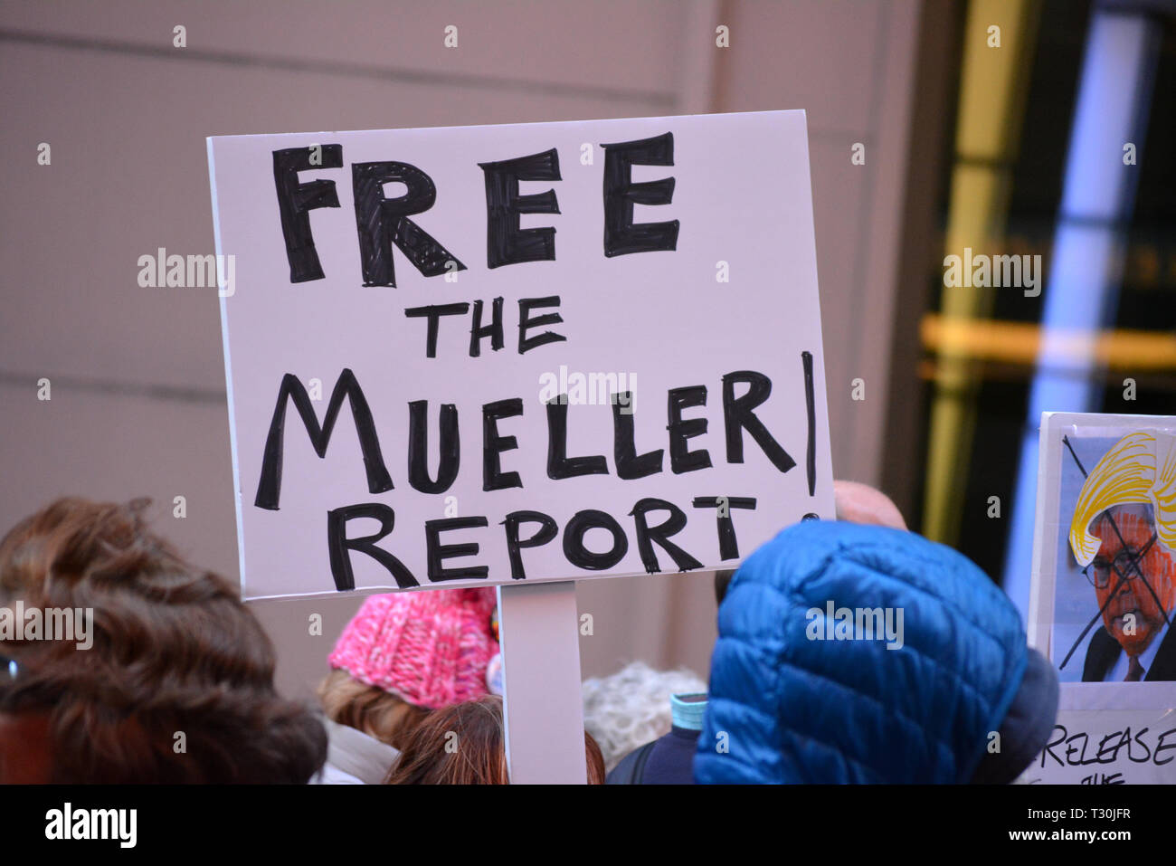 Rally to release the full Mueller Report to the public in New York City - Stock Image