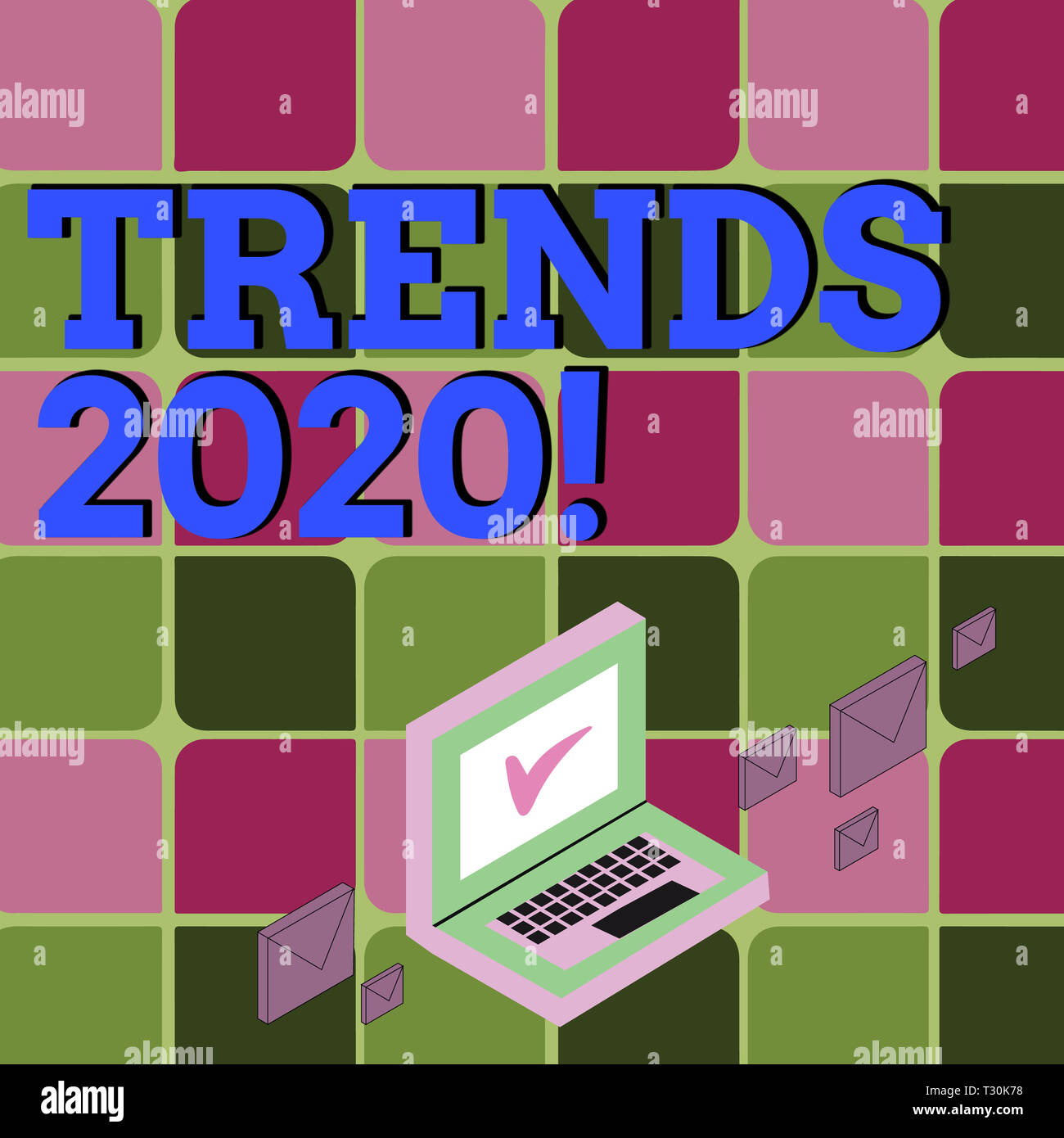 Business Trends 2020.Text Sign Showing Trends 2020 Business Photo Showcasing