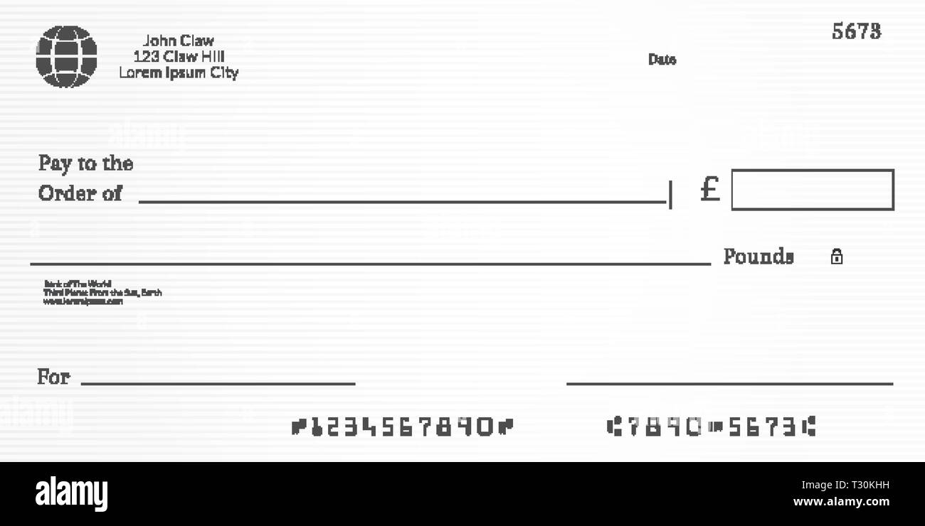Bank Cheque Black And White Stock Photos Images Alamy