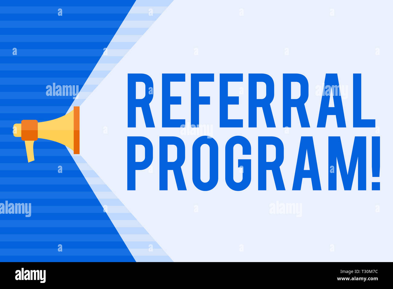 Conceptual hand writing showing Referral Program  Concept
