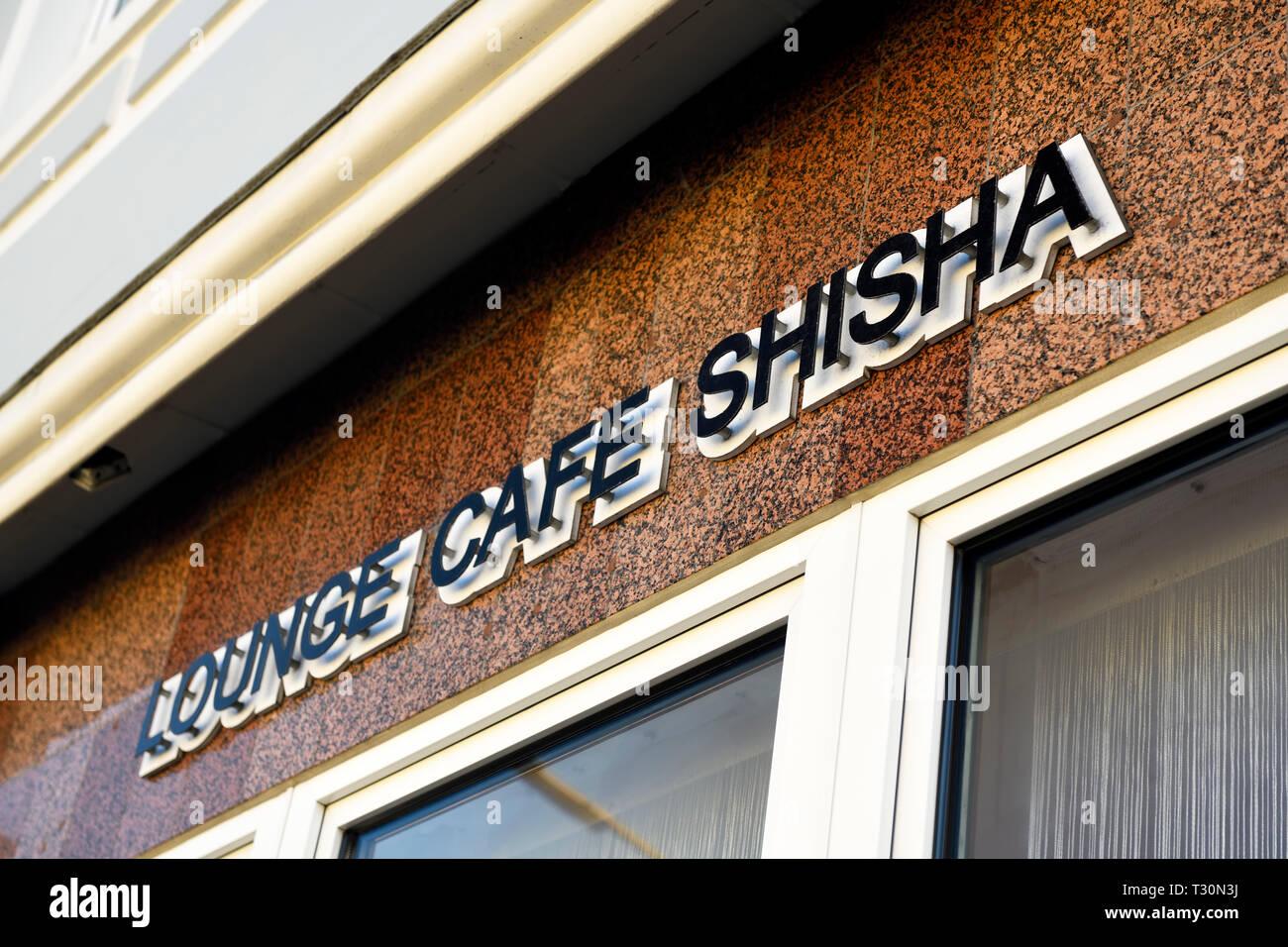 Shisha bar in mountain village, Hamburg, Shisha-Bar in Bergedorf - Stock Image