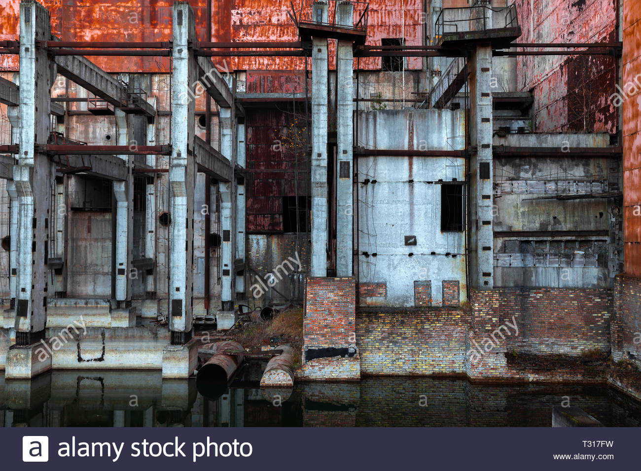 Construction site of Reactor Number 5 at Chernobyl Nuclear Power Plant, 2019 photo - Stock Image