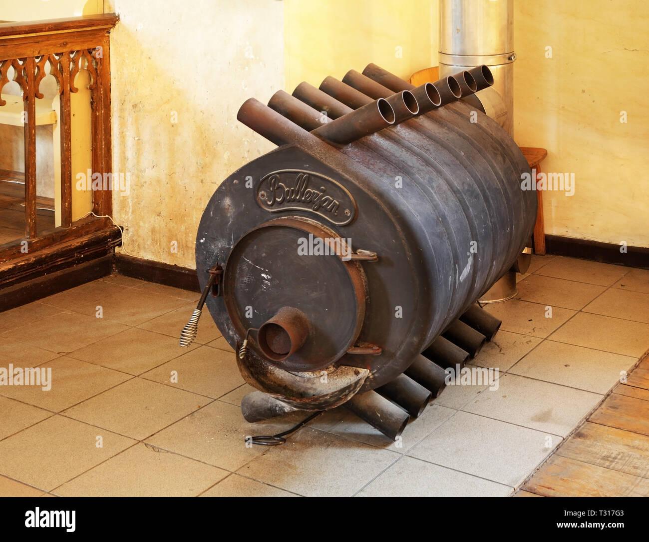 Old stove in Sigulda. Latvia - Stock Image