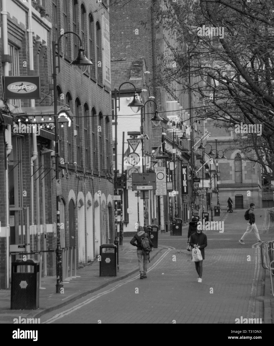 Gay Village, Canal Street, Manchester City Centre, England, UK. - Stock Image
