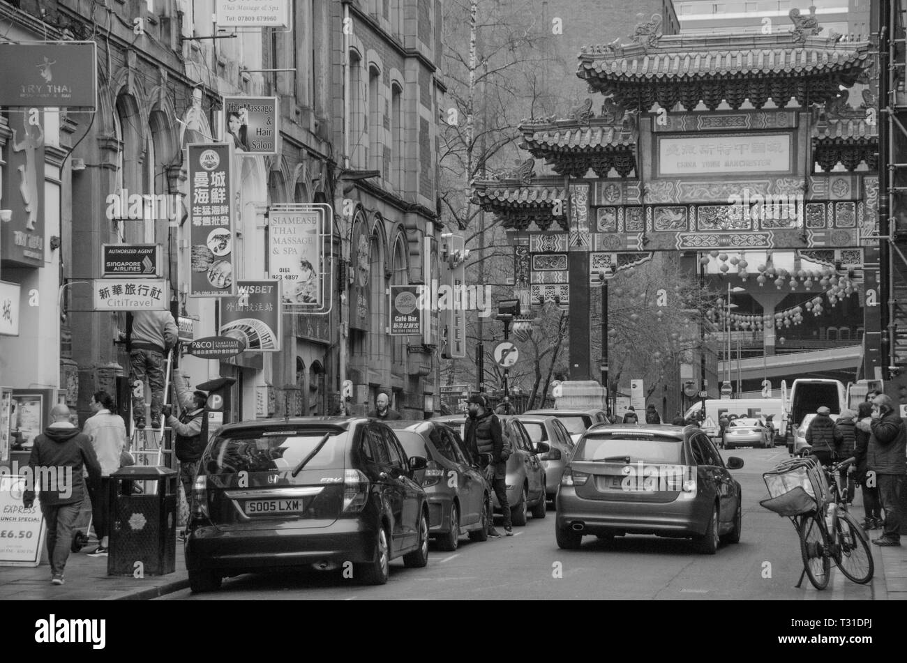 China Town area in Manchester City Centre, England, UK. - Stock Image