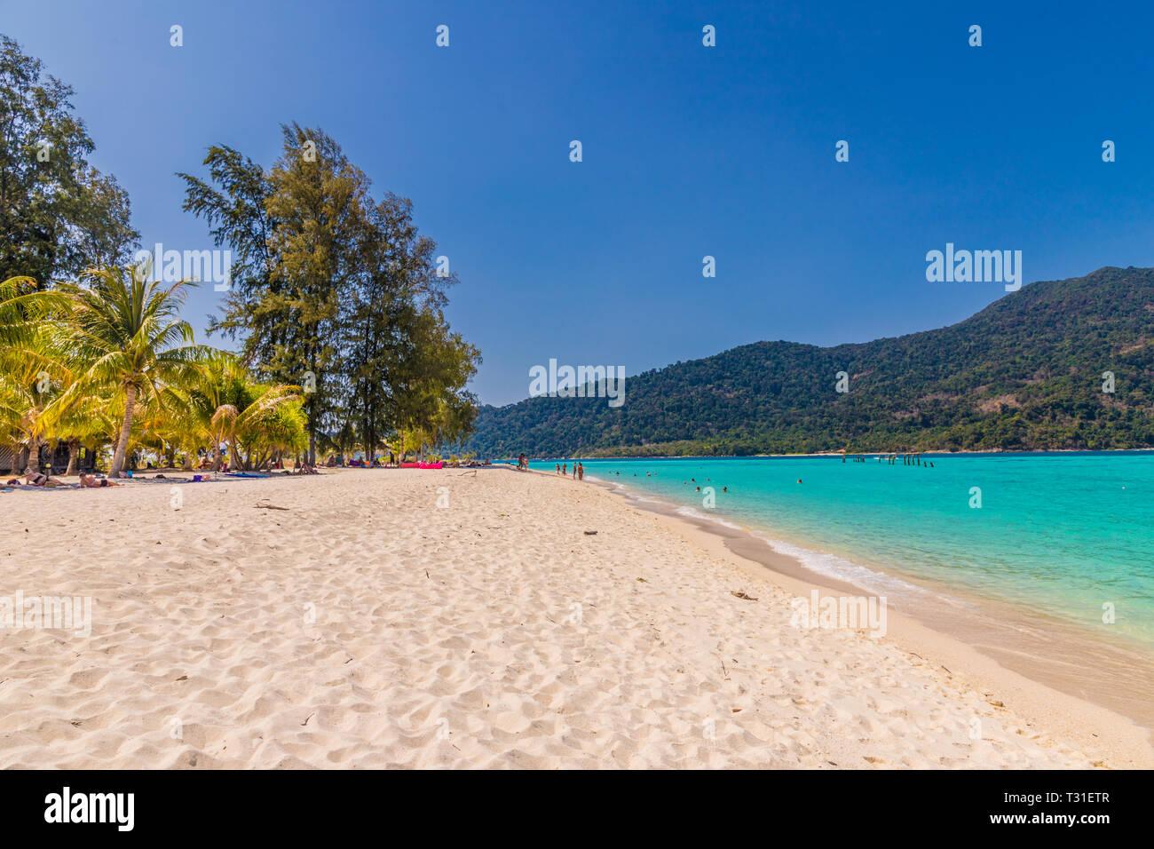 February 2019. Ko Lipe Thailand. A view of the beach in Ko Lipe in Ko tarutao national park in Thailand Stock Photo