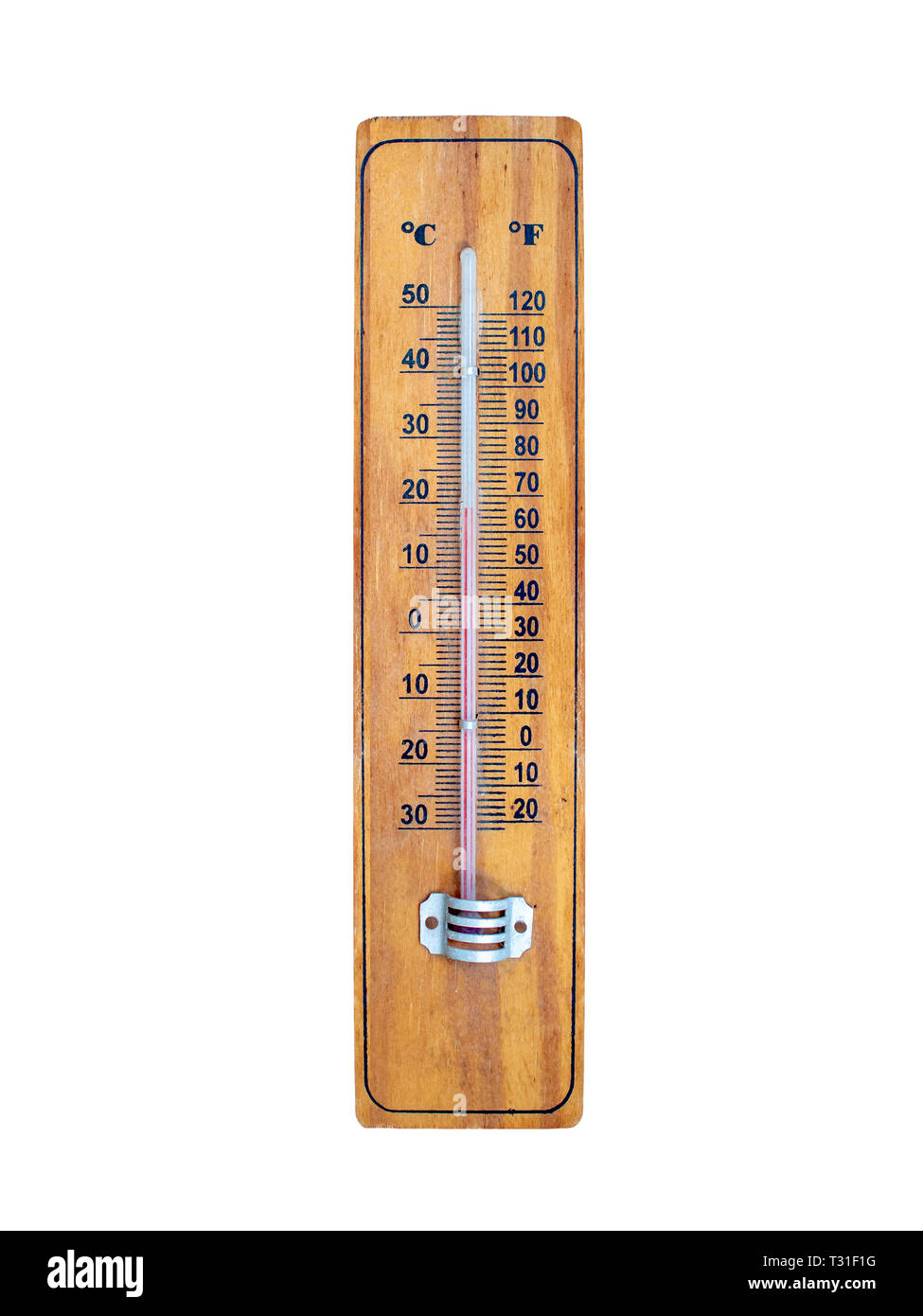 Home Garden Traditional Wooden Thermometer Large Centigrade /& Fahrenheit Scales