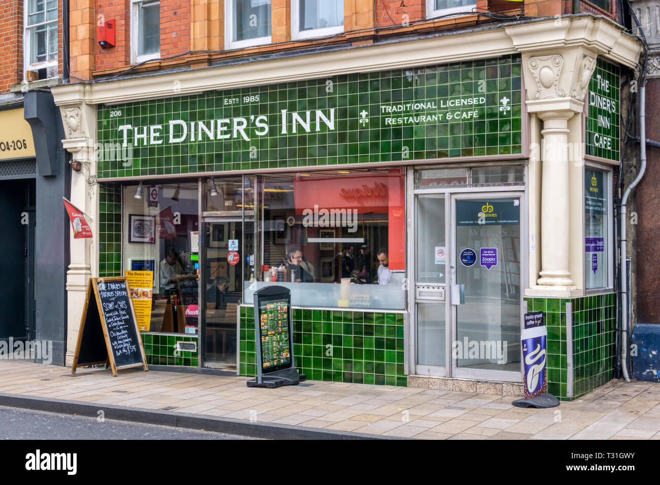 The Diner's Inn Cafe in Bromley, South London - Stock Image