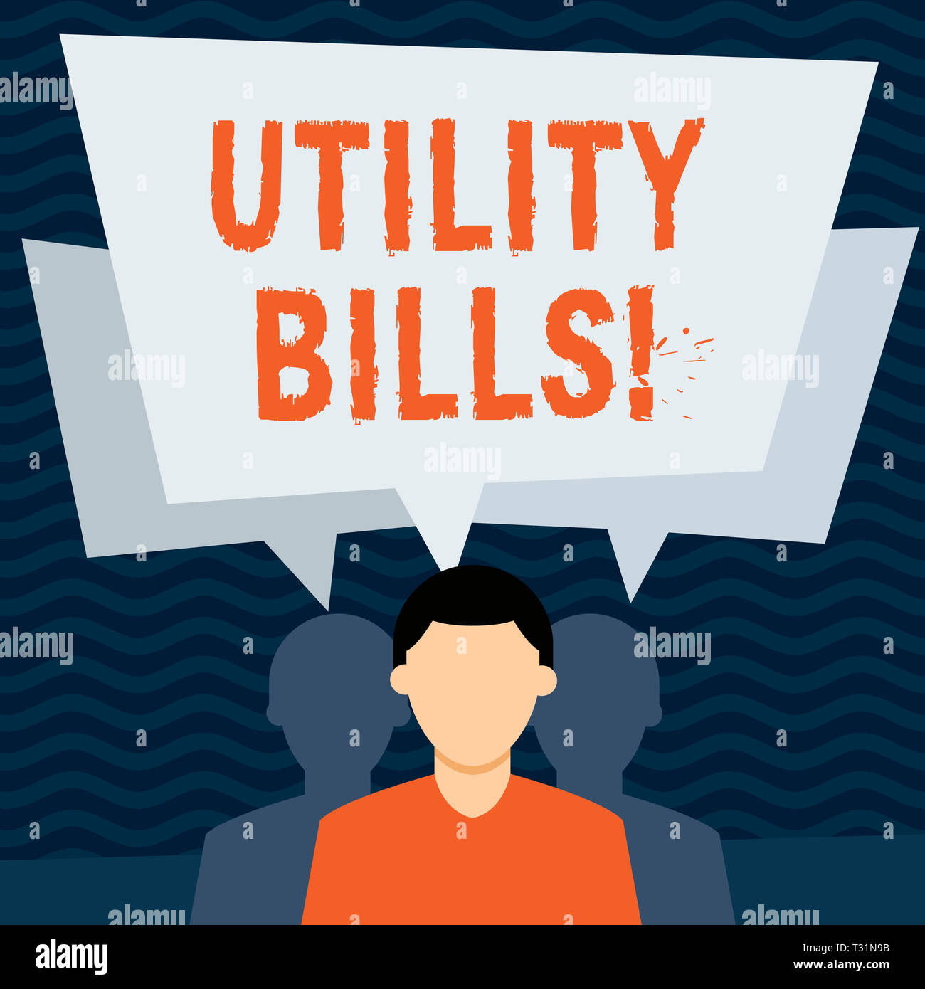 Handwriting text Utility Bills  Conceptual photo amount