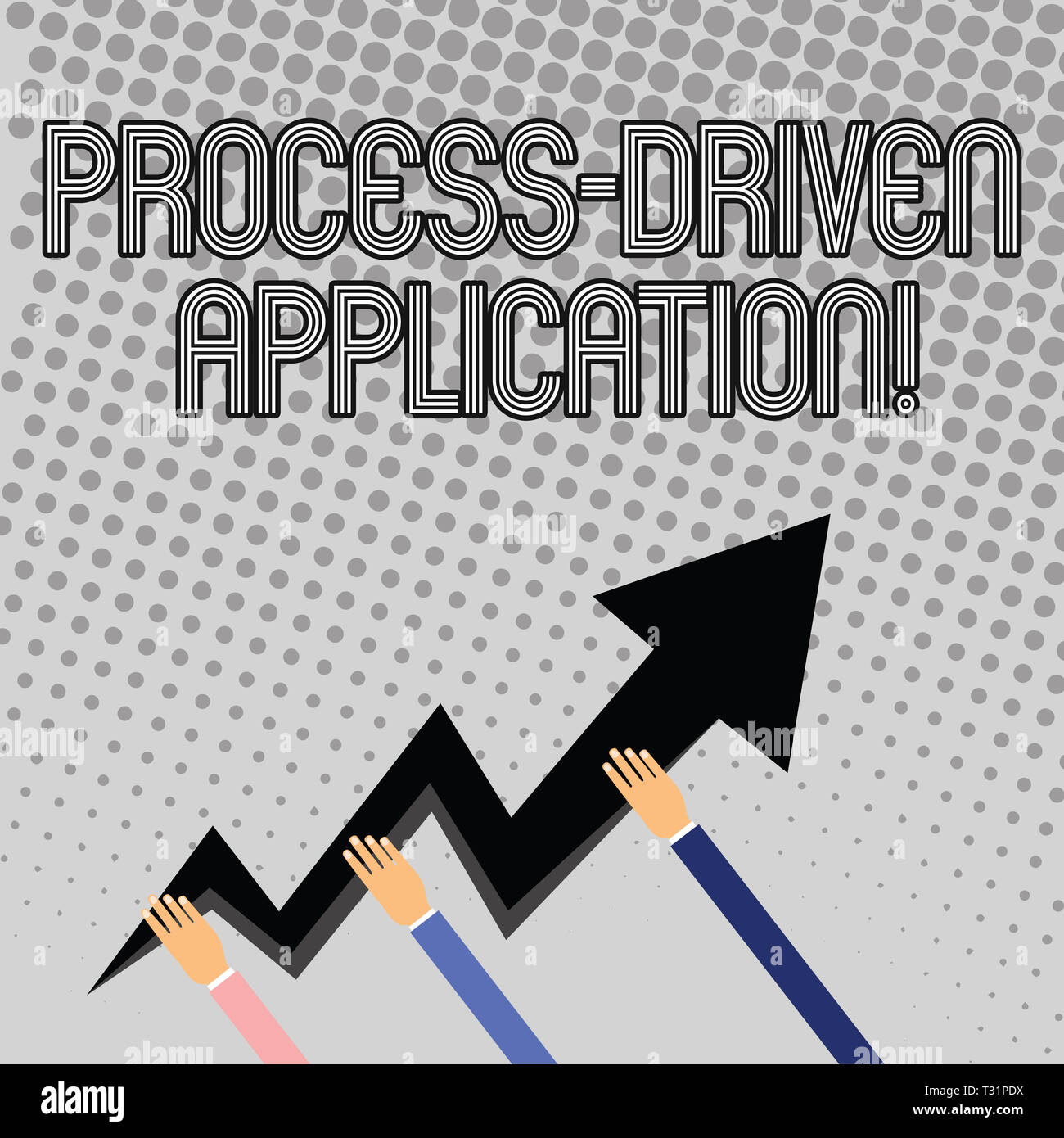 Handwriting text writing Process Driven Application