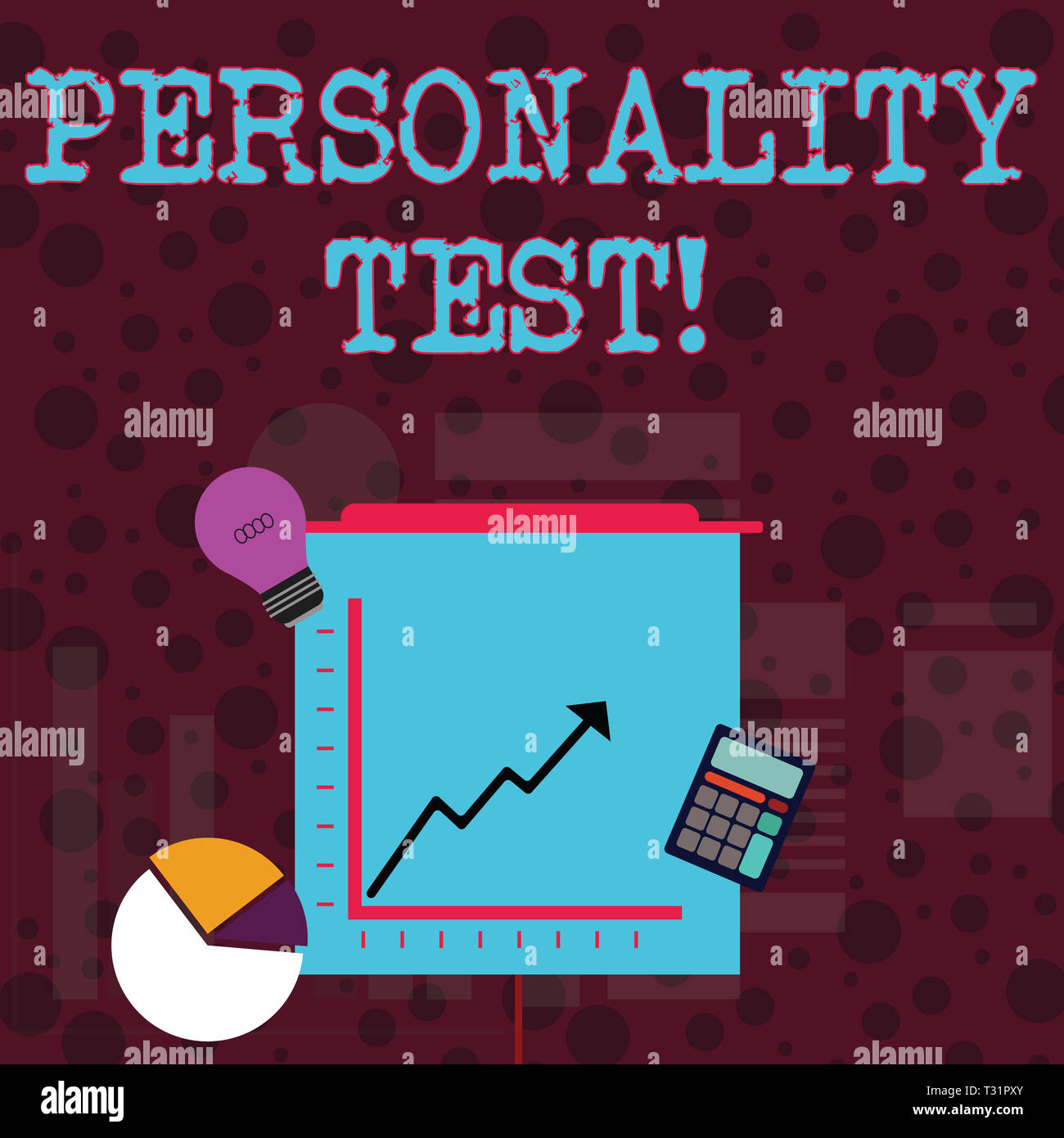 Conceptual hand writing showing Personality Test. Concept meaning method used assessing huanalysis demonstratingality constructs Investment Icons of P - Stock Image