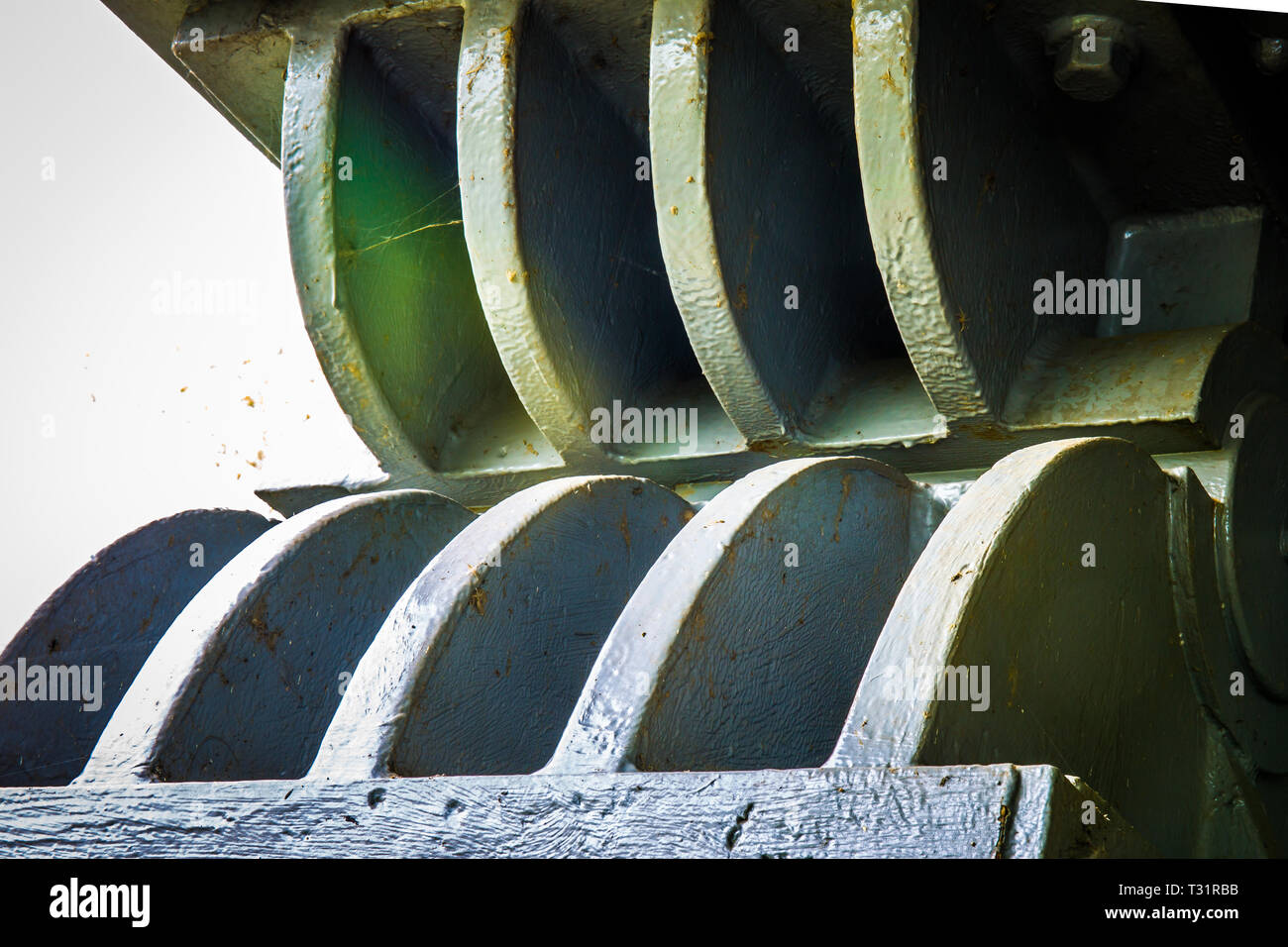Abstract image of parts of a steel railway bridge Stock Photo