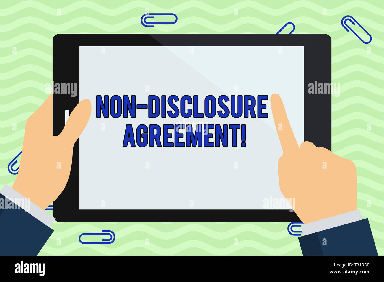 Writing Note Showing Non Disclosure Agreement Business