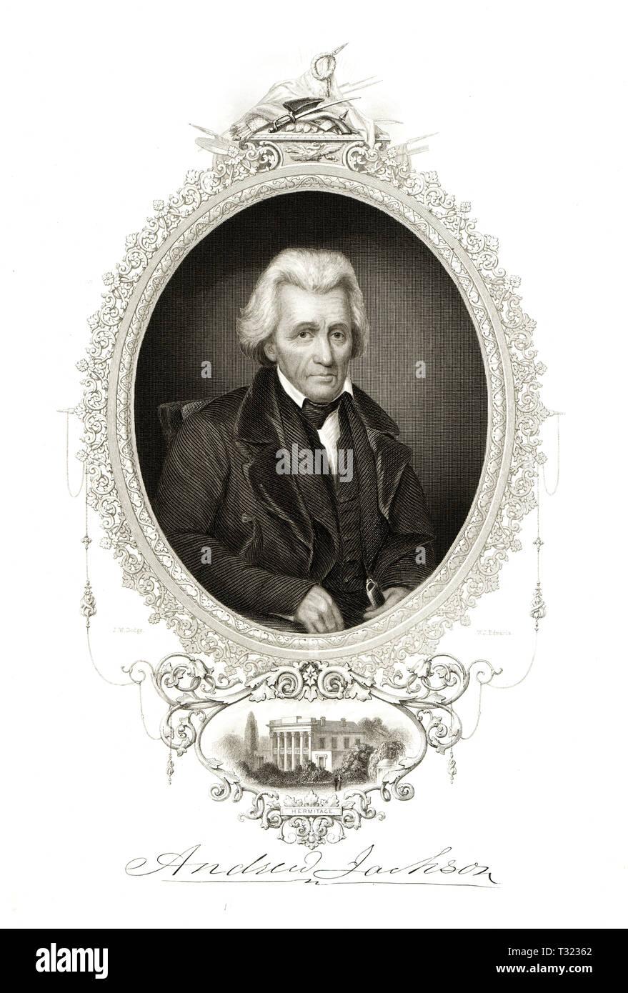 Portrait of President Andrew Jackson, Tennessee Stock Photo