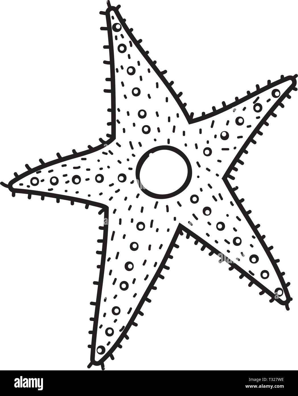 cute starfish isolated icon vector illustration design - Stock Vector