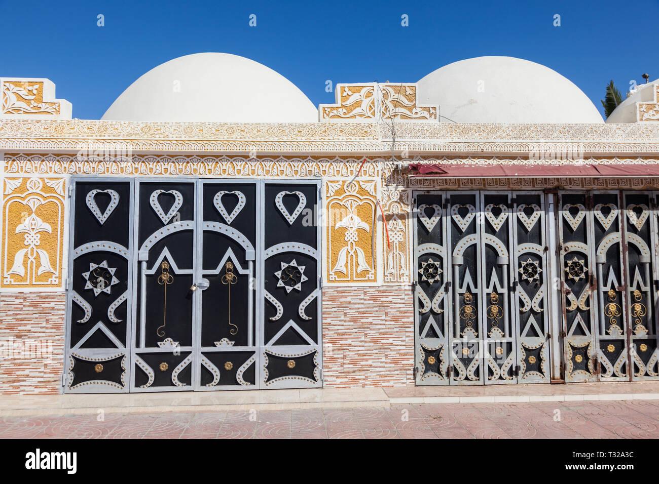 Jewelry souk in Laayoune. Laayoune, Western Sahara, Morocco. - Stock Image
