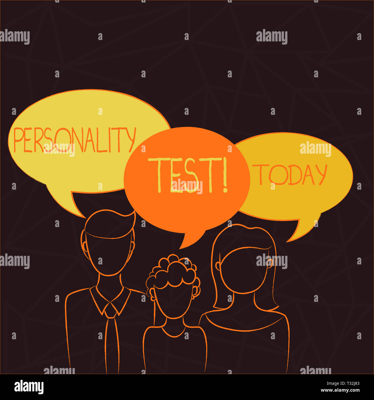 Handwriting text Personality Test. Conceptual photo method used assessing huanalysis demonstratingality constructs Family of One Child Between Father  - Stock Image