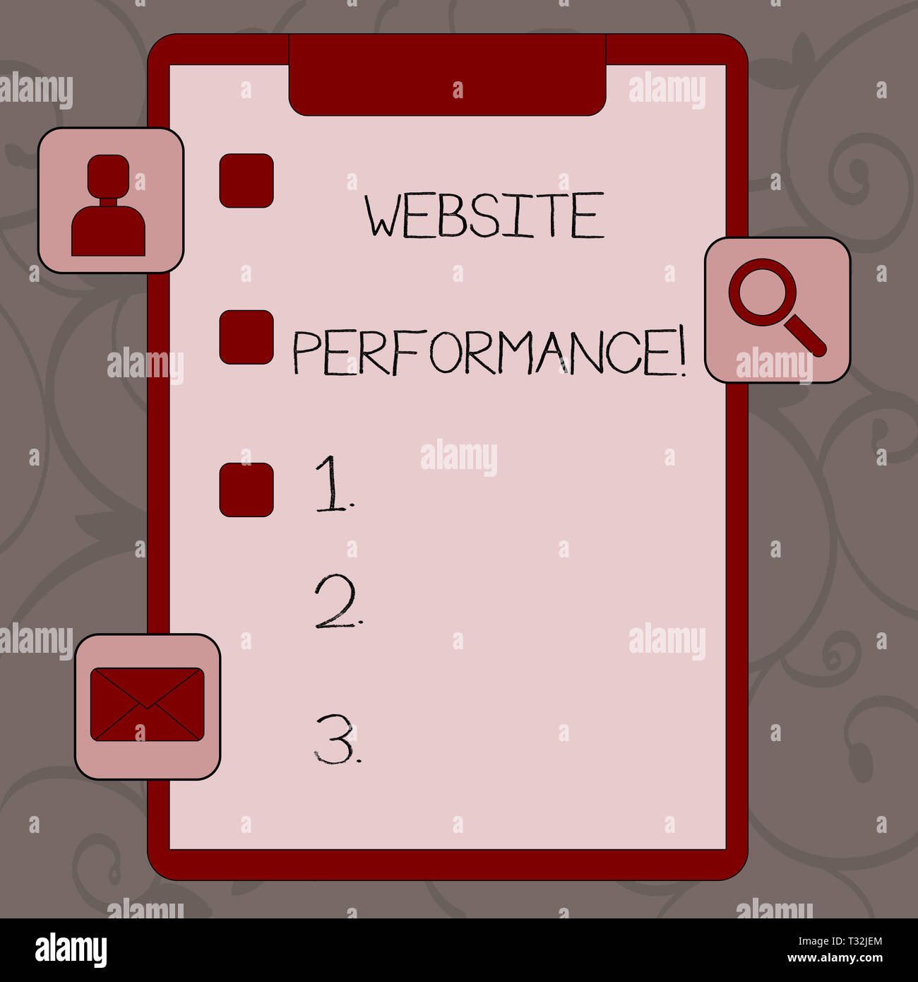 Conceptual hand writing showing Website Perforanalysisce