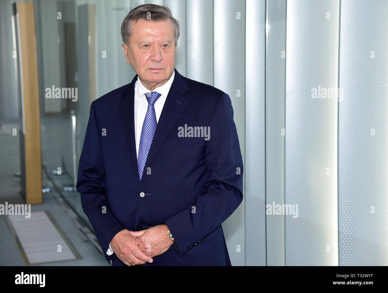 President of Gazprom, Viktor Zubkov in Milan  The company is the