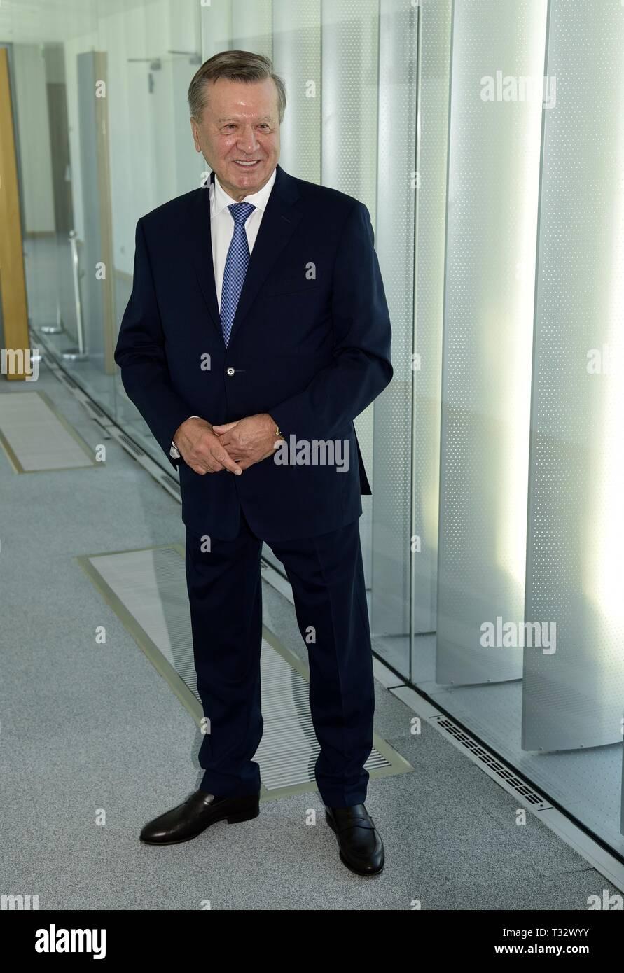 President of Gazprom, Viktor Zubkov in Milan  The company is the