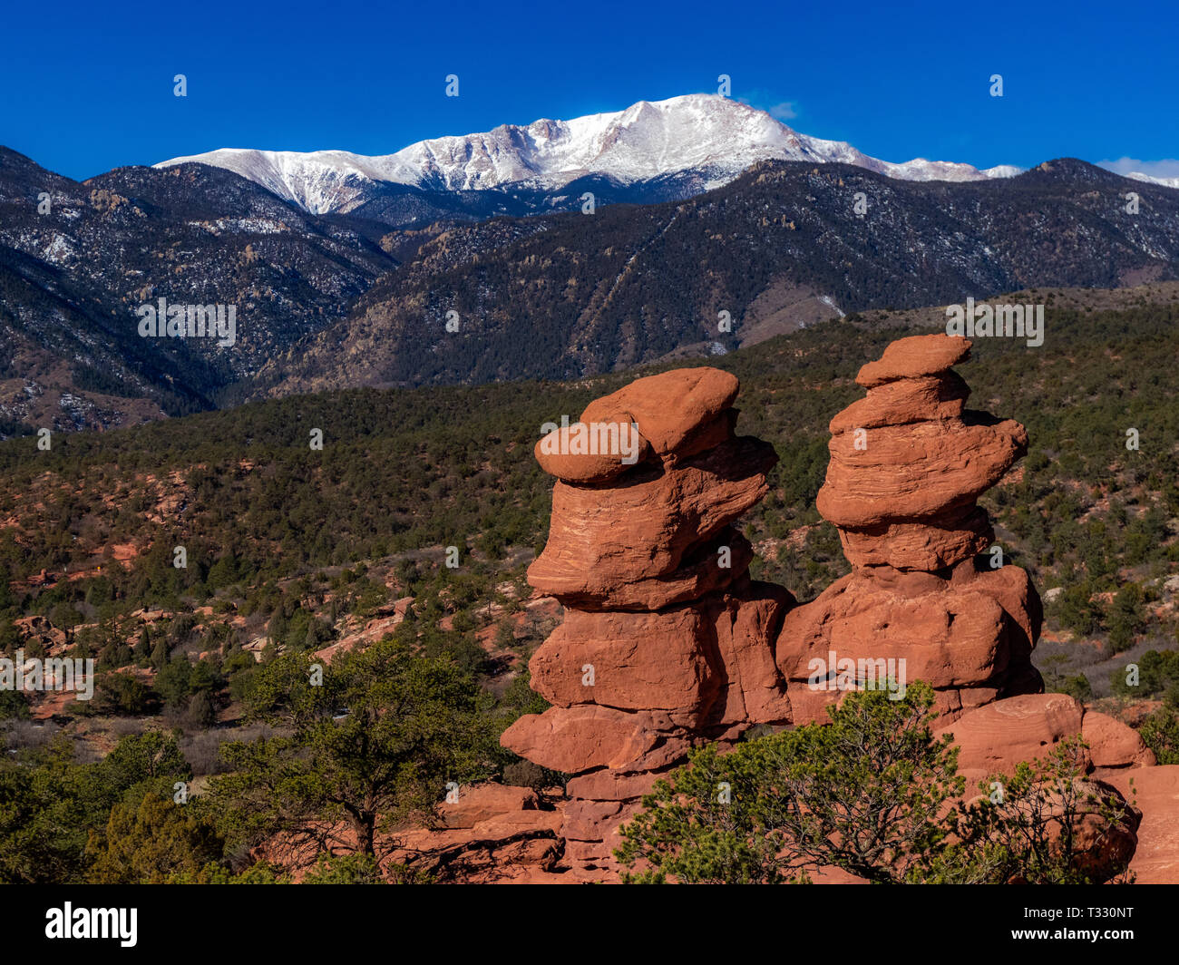 Red Rock twins - Stock Image