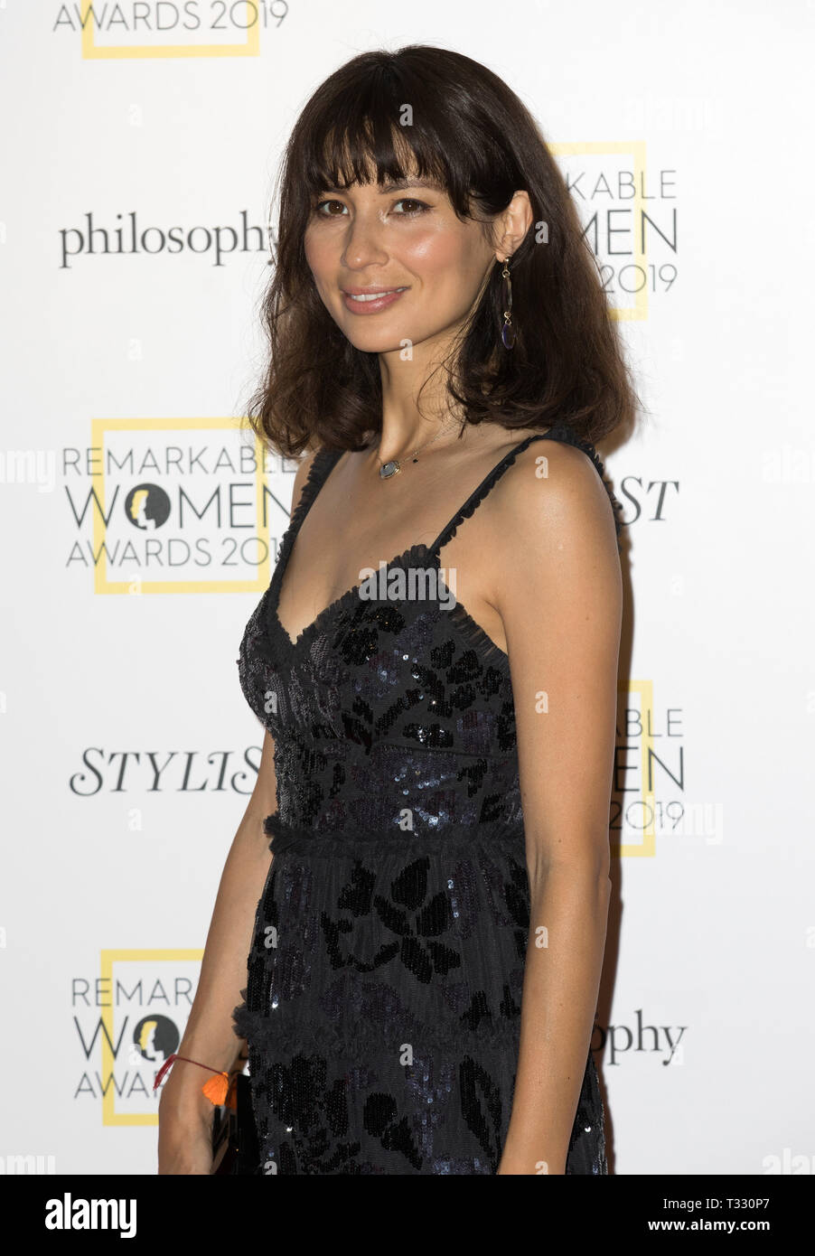 Guests attend the Stylist's inaugural Remarkable Women Awards in partnership with philosophy at Rosewood London  Featuring: Jasmine Hemsley Where: London, United Kingdom When: 05 Mar 2019 Credit: Phil Lewis/WENN.com Stock Photo