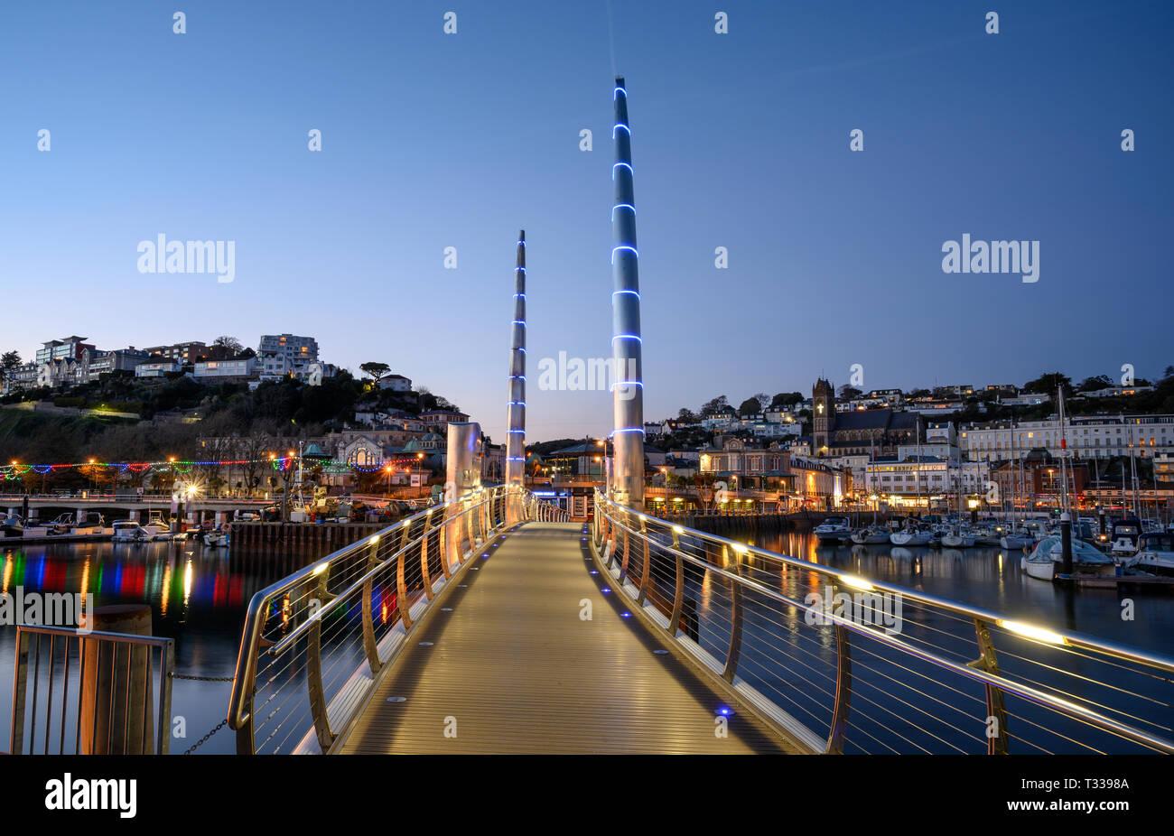 Torquay Harbour Bridge Stock Photo