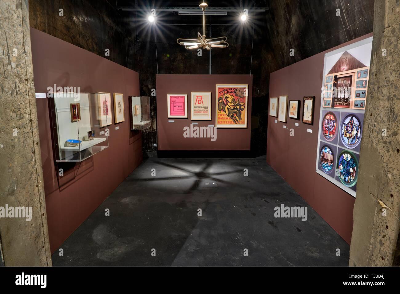 Im Rahmen von 100 Jahren Bauhaus findet vom 8.4.2019 bis 5.1.2020 auf dem Weltkulturerbe Zollverein in Essen im dort beheimateten Ruhrlandmuseum die A - Stock Image
