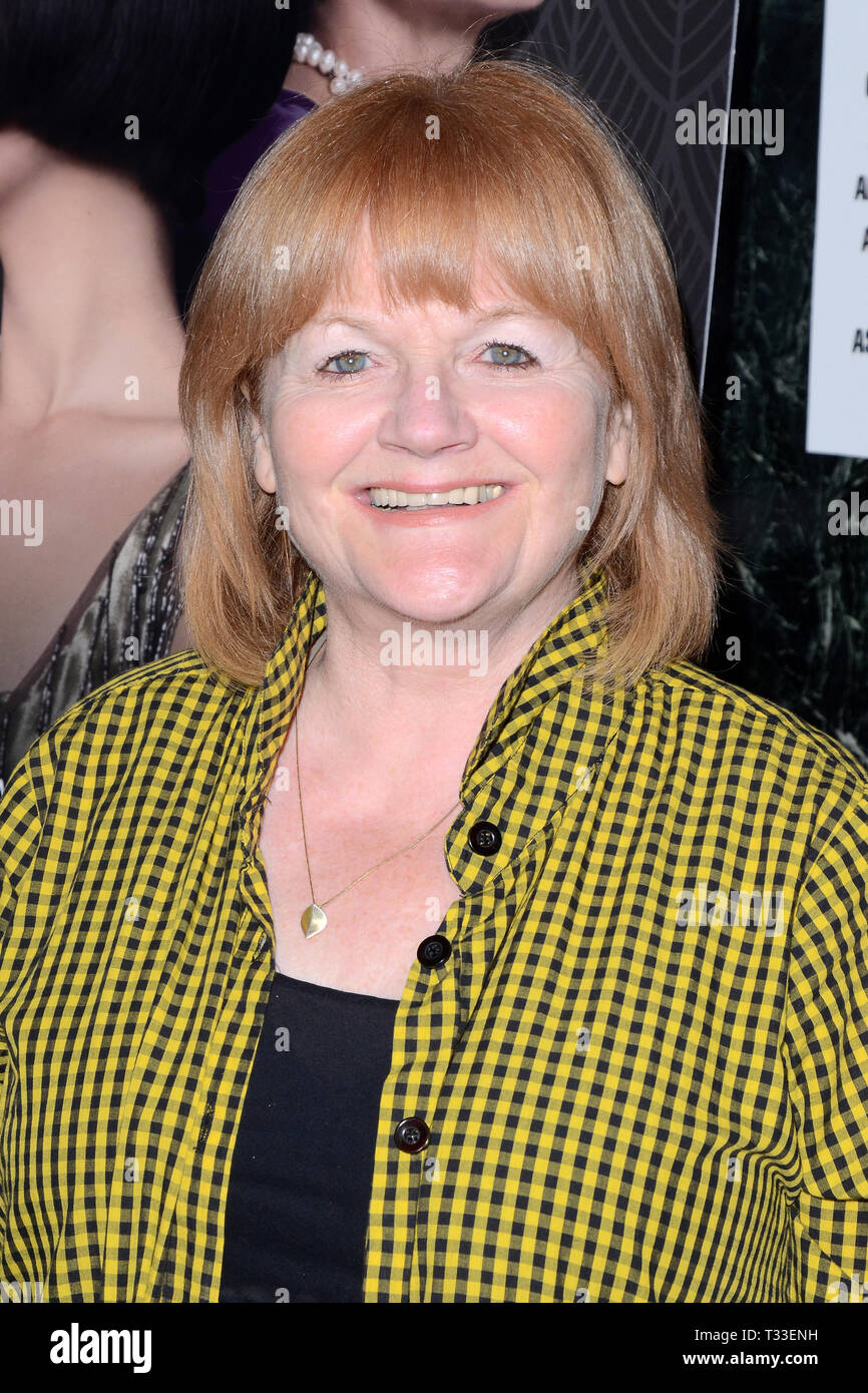 April 3, 2019 - Los Angeles, CA, USA - LOS ANGELES - APR 3:  Lesley Nicol at the ''The Chaperone'' Los Angeles Premiere at the Linwood Dunn Theater on April 3, 2019 in Los Angeles, CA (Credit Image: © Kay Blake/ZUMA Wire) - Stock Image