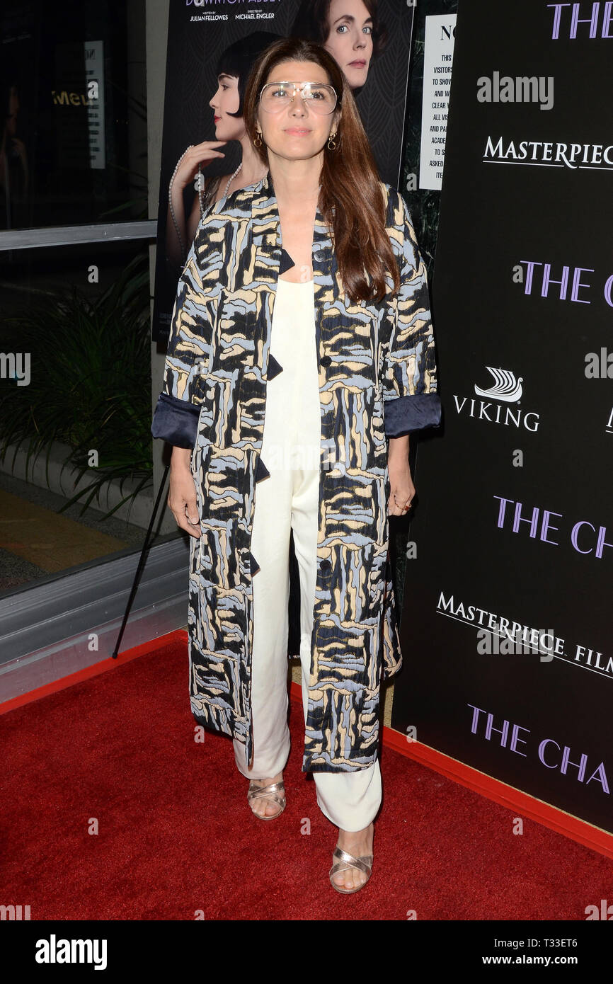 April 3, 2019 - Los Angeles, CA, USA - LOS ANGELES - APR 3:  Marisa Tomei at the ''The Chaperone'' Los Angeles Premiere at the Linwood Dunn Theater on April 3, 2019 in Los Angeles, CA (Credit Image: © Kay Blake/ZUMA Wire) - Stock Image